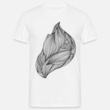 Flow stroom, abstract ontwerp - Mannen T-shirt