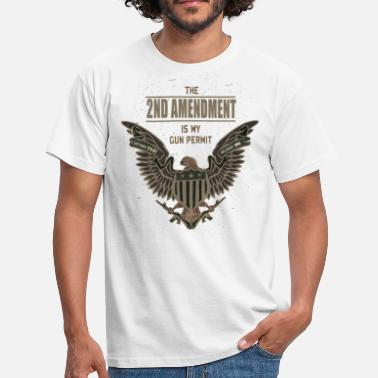 Amendement 2de Amendement is mijn Gun Permit - Mannen T-shirt