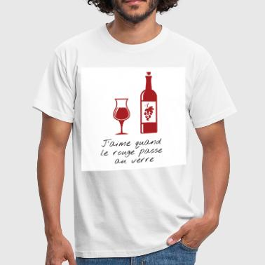 Bacchus when red goes by the glass - Men's T-Shirt