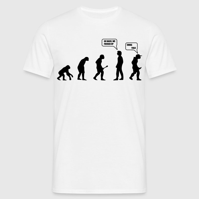 Swag Yolo Evolution - Mannen T-shirt