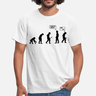 Short Funny Quotes Swag Yolo Evolution - Men's T-Shirt