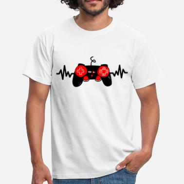 Game Gaming is life, geek, gamer, gaming - Men's T-Shirt