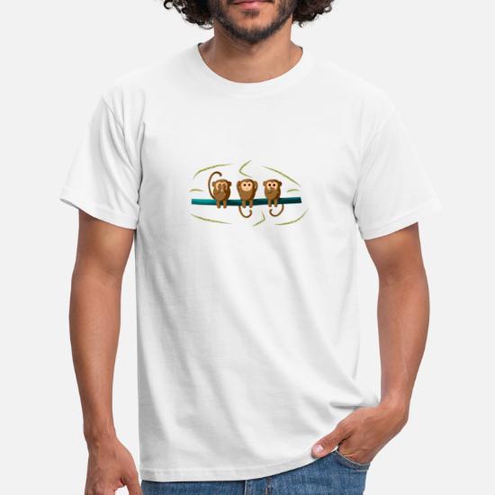 The 3 monkeys, cute monkeys, monkeys, bananas, emoji Men's T