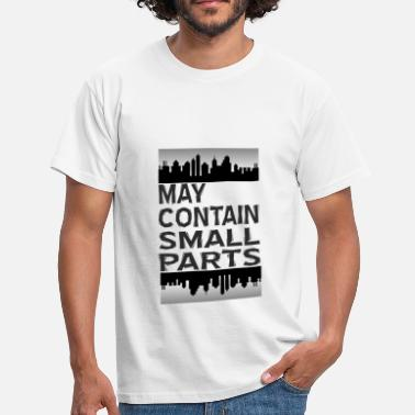 Container May contain small parts - Männer T-Shirt