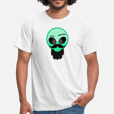 Hipster Beard Vector alien beard - Men's T-Shirt