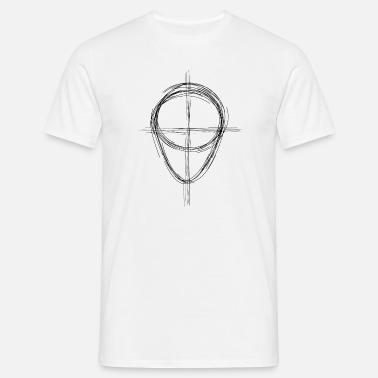 Cabeza de boceto Camiseta premium hombre  d705cdf511bd0