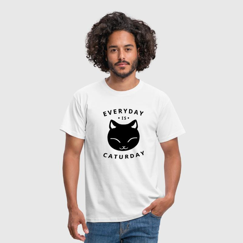 Everyday is caturday - Männer T-Shirt