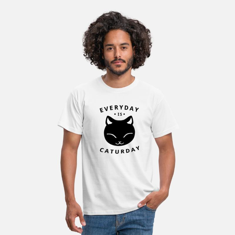 Cat T-Shirts - Everyday is caturday - Men's T-Shirt white