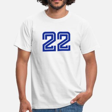 Football Numero 22 College Numbers, Nummern, Sports Numbers, 22 - T-shirt Homme