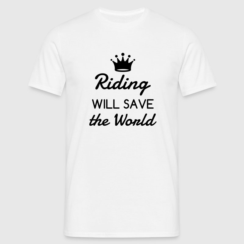 Riding Horse Rider Equestrianism Equitation - Men's T-Shirt