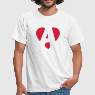 Heart A - I love A - Men's T-Shirt