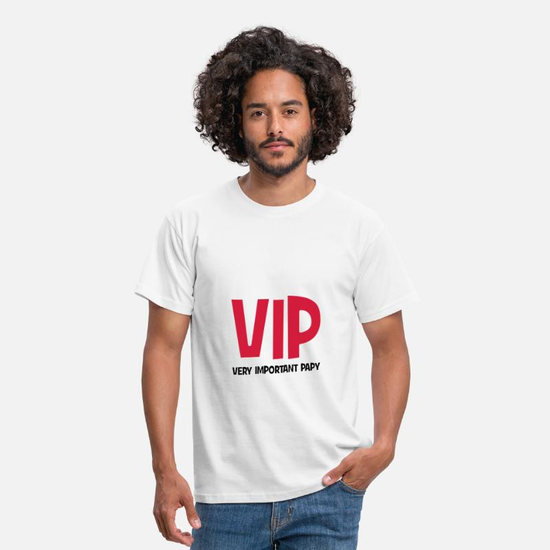 Papy T-shirts - VIP - Very Important Papy - T-shirt Homme blanc