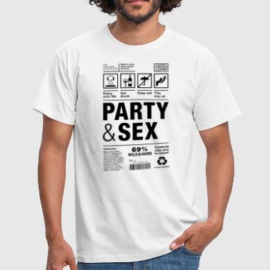 Sex View Party & Sex Package Label Shipping label wild & hard - Men's T-Shirt