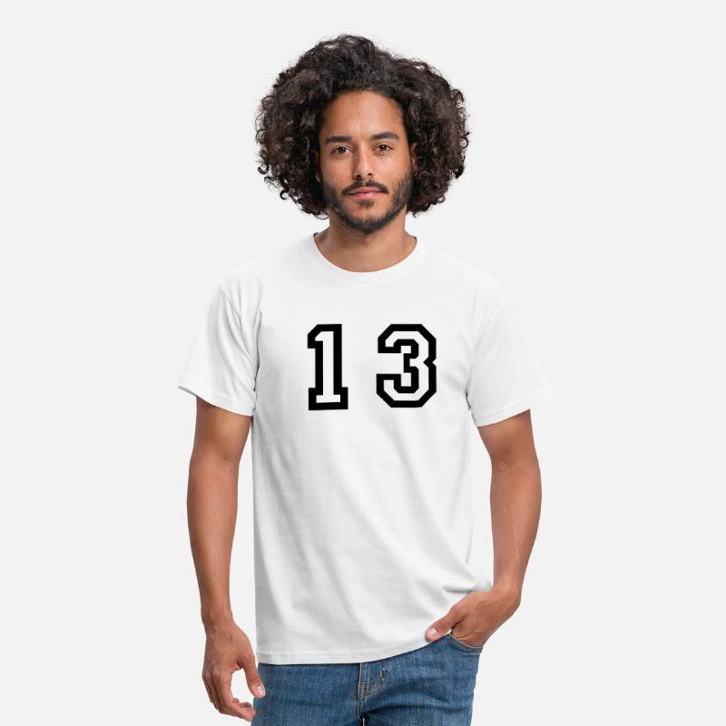 Number T-Shirts - number - 13 - thirteen - Men's T-Shirt white