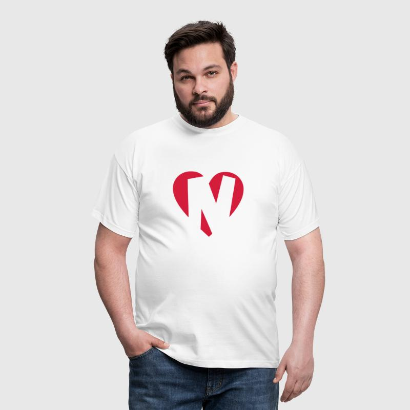 Heart N - I love N - Men's T-Shirt