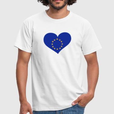 Europa Europe Europa Herz; Heart Europe - Männer T-Shirt