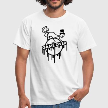 game_over_bachelor_graffiti_stamp - Men's T-Shirt