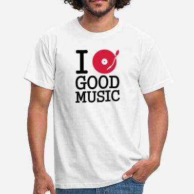 Stereo I dj / play / listen to good music - Men's T-Shirt