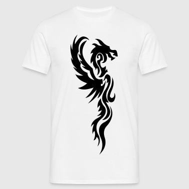 tribal dragon - T-shirt herr