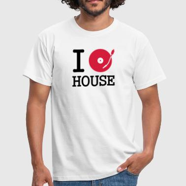 Listen I dj / play / listen to house - Men's T-Shirt
