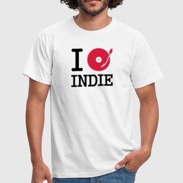 Listen I dj / play / listen to indie - Men's T-Shirt