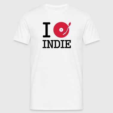 I dj / play / listen to indie - Mannen T-shirt