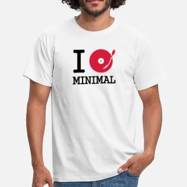 Turntable I dj / play / listen to minimal - Männer T-Shirt