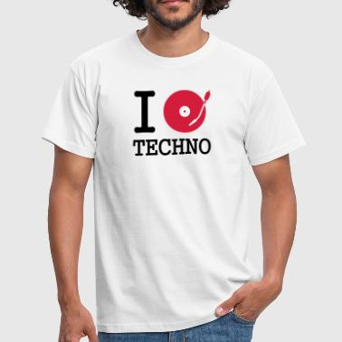 Djing i dj / play / listen to techno - Herre-T-shirt