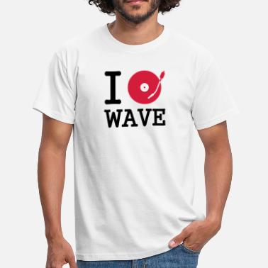 Heart I dj / play / listen to wave - Männer T-Shirt