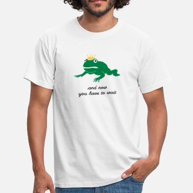 Pad grumpy frog prince - waiting - Mannen T-shirt