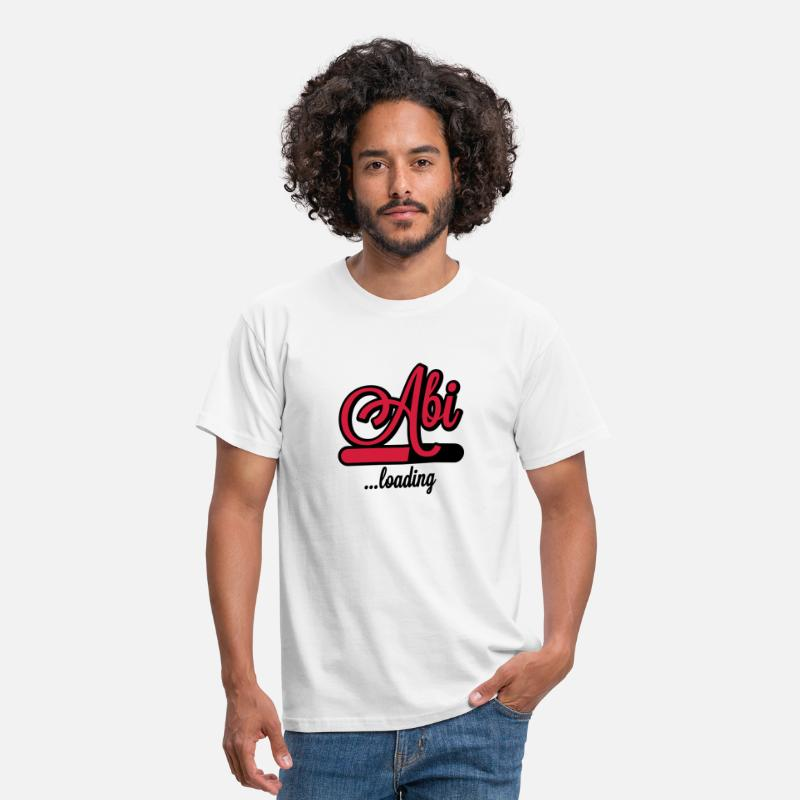 Load T-Shirts - Abi loading | Abitur wird geladen - Men's T-Shirt white
