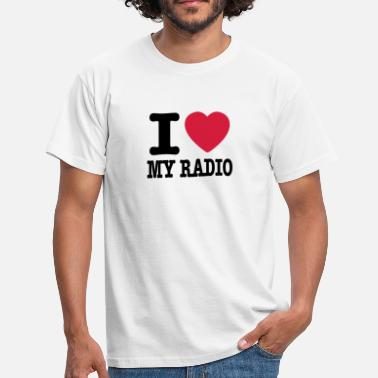 Radio i love my radio / I heart my radio - T-shirt herr