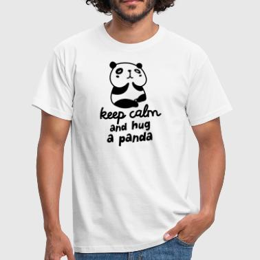 Keep Calm And Hug A Panda - Koszulka męska