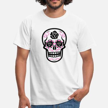 Sugar-skull Sugar Skull Diamond Rose Rose - T-shirt Homme