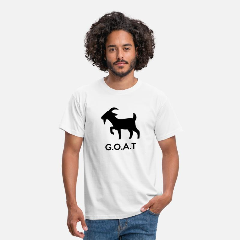 Goat T-Shirts - The G.O.A.T (Greatest Of All Time) - Men's T-Shirt white
