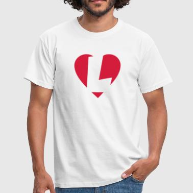 Heart L -I love L - Herre-T-shirt