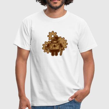 steampunkandroid_2c - Men's T-Shirt