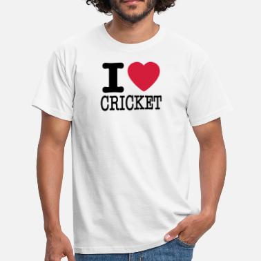 I Love Cricket I love cricket - Men's T-Shirt