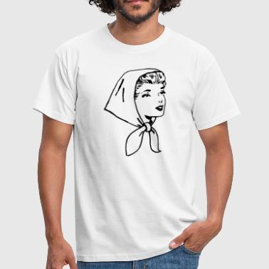 Woman with scarf - Men's T-Shirt