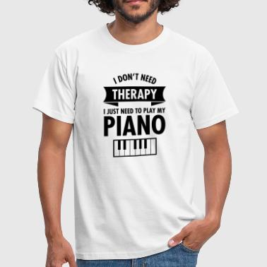 Therapy - Piano - Mannen T-shirt
