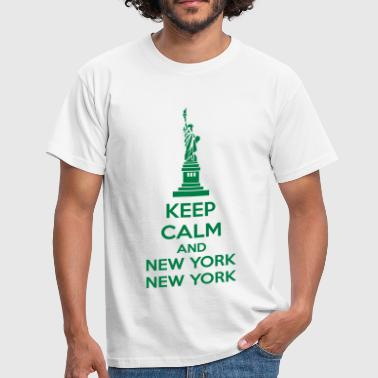 Keep Calm And New York New York - Men's T-Shirt
