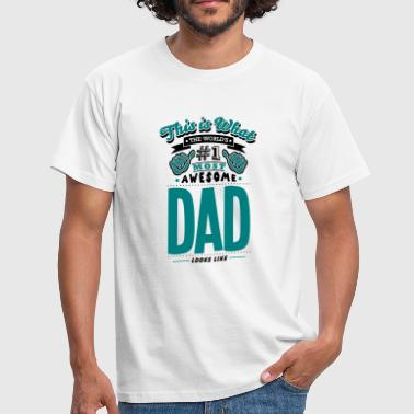 No1 Dad dad world no1 most awesome copy - Men's T-Shirt