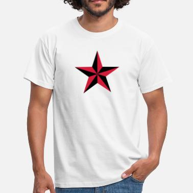 Tribal Peace Love Nautical star symbol protection tattoo sailor navy - Men's T-Shirt