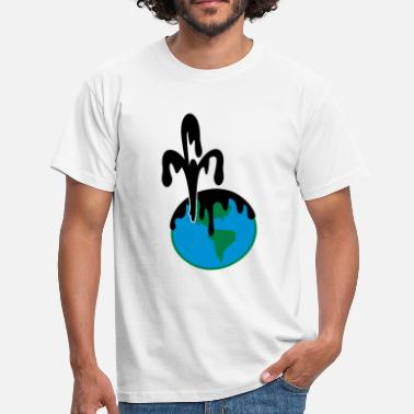 Oljeutsläpp deep blue: oljeutsläpp /  oil pollution (3c) - T-shirt herr