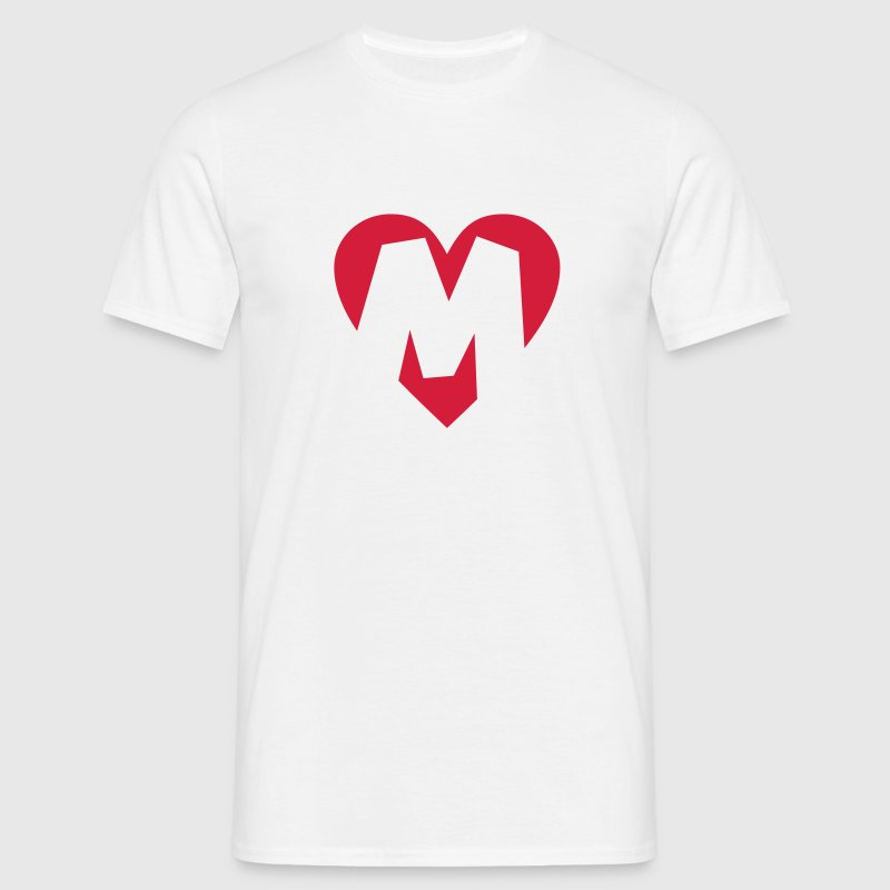 Heart M - I love M - Men's T-Shirt