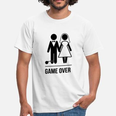 Polterabend Game Over Game Over Marriage - Männer T-Shirt