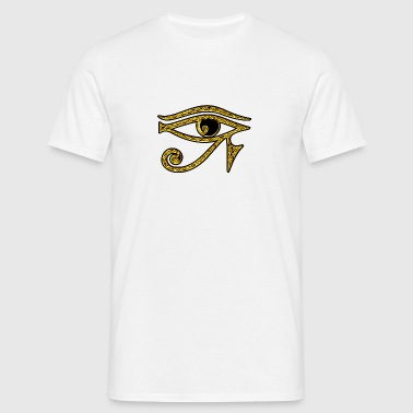 Eye of Horus / udjat - right eye - sun eye / wedjat - left  eye - moon eye /symbol - protection & healing / - Mannen T-shirt