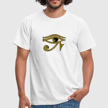 Reverse Eye of Horus / udjat - right eye - sun eye / wedjat - left  eye - moon eye /symbol - protection & healing / - Mannen T-shirt