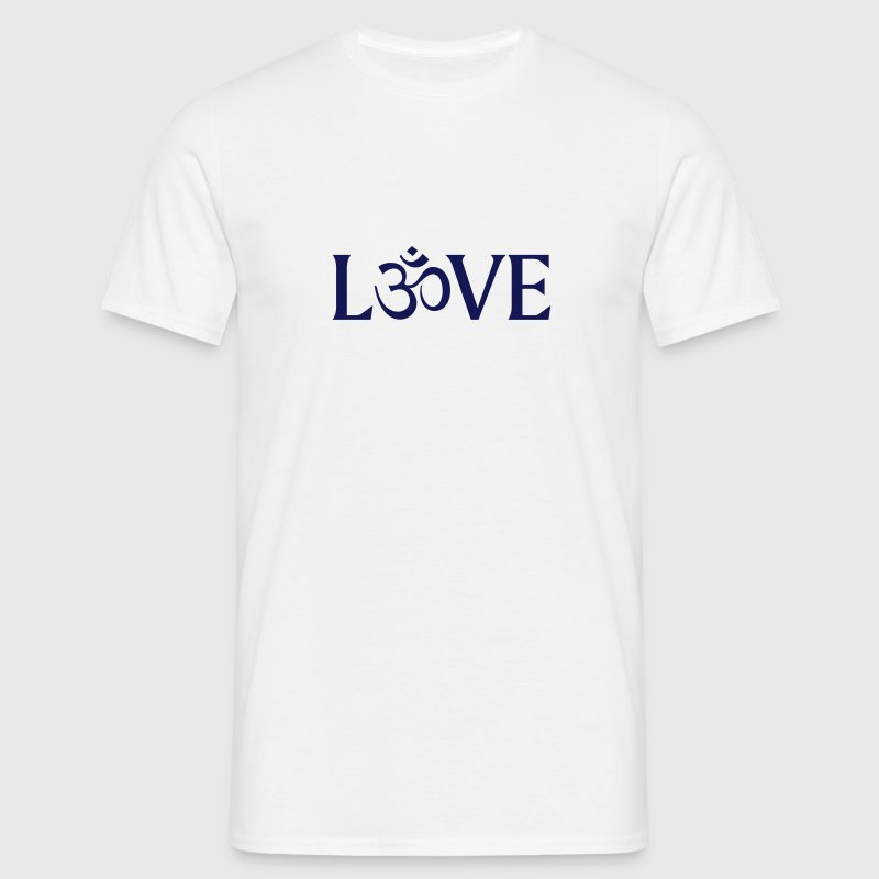 Love with the Symbol OM.  - Men's T-Shirt