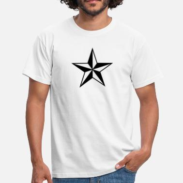 Tribal Peace Love Nautical star protection guidance good luck symbol - Men's T-Shirt
